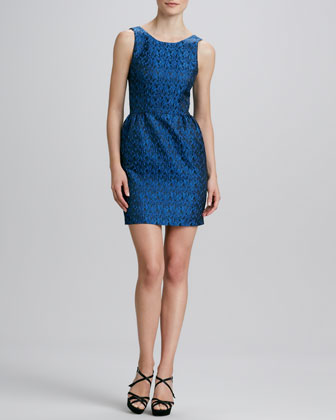 Two-Bow Back Cocktail Dress
