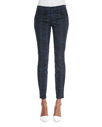 Selena Animal-Print Jeans