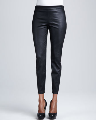 Roxanna Leather Cropped Pants