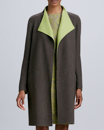Ginata Contrast-Collar Coat