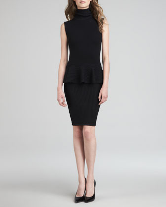 Kandi Turtleneck Peplum Dress
