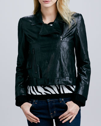 Astor Leather Biker Jacket