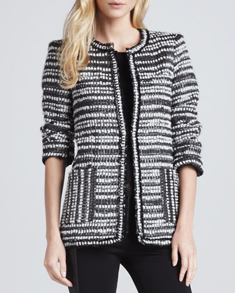 Luci Metallic Tweed Coat