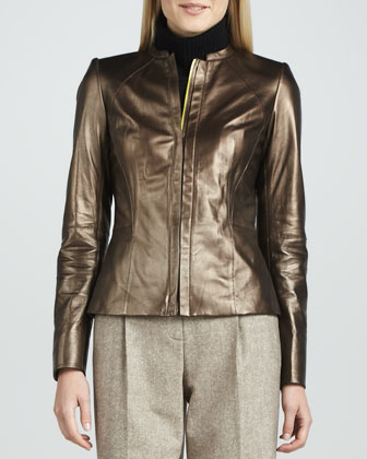 Metallic Motorcycle Jacket