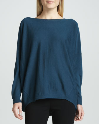Dropped-Hem Sweater