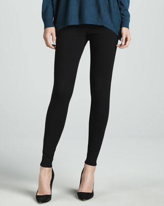 Dropped-Hem Sweater & Punto Milano Leggings