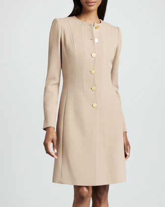 Rolanda Long Wool Crepe Jacket