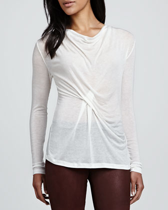 Autumn Gauze Long-Sleeve Top