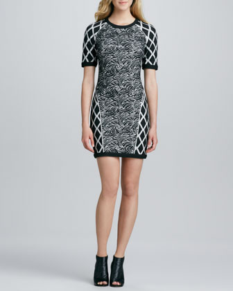 Argon Mix-Print Dress