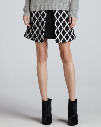 Irene Pleated Printed Skirt