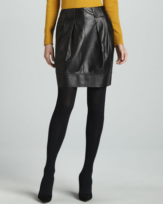 Contemporary Leather Skirt
