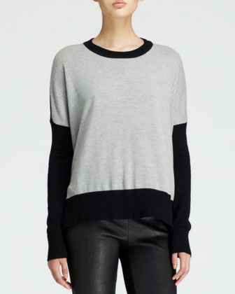 Perforated Oversized Combo Sweater