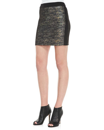 Shimmery Fitted Miniskirt