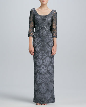 Lace Scoop-Back Gown