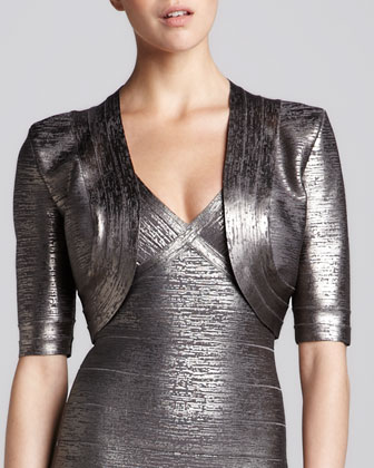Bolero Metallic Bandage Jacket