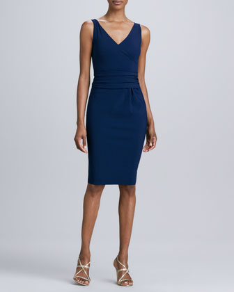 Lucia Sleeveless Jersey Cocktail Dress