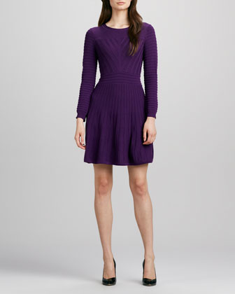 Ribbed A-Line Sweaterdress