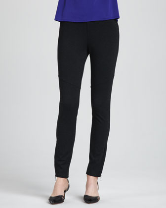 Merino-Wool Open Jacket, Cap-Sleeve Tee & Ponte Skinny Ankle Pants, Women's