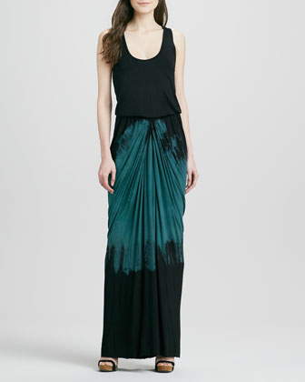 Amalia Fitted Tie-Dye Maxi Dress