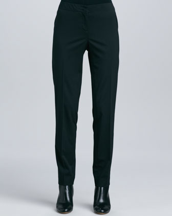 Tara Front-Zip Wool Jacket & Stanton Straight-Leg Pants