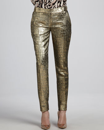 Mary Metallic Slim Pants