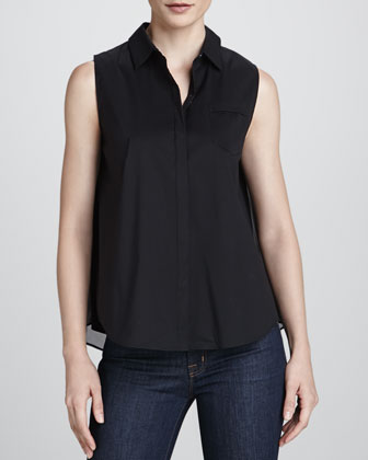 Maya Sleeveless Chiffon Blouse