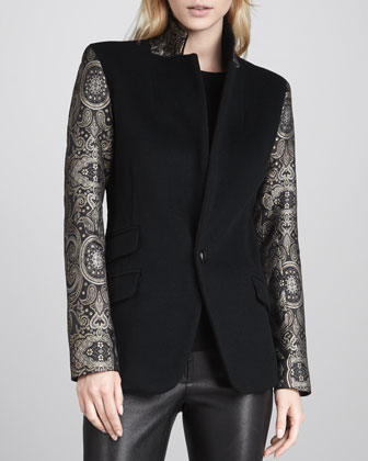 Revelry Jacket with Printed Sleeves