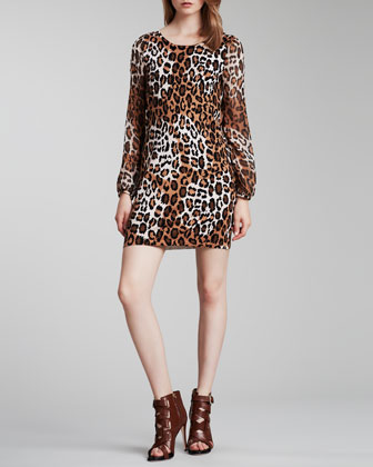 Alagna Leopard-Print Dress