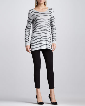 Cropped Jersey Leggings, Petite
