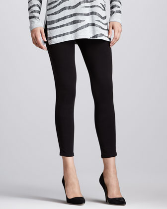 Cropped Jersey Leggings, Women's