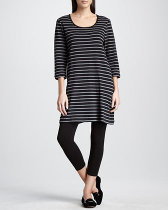 Striped Knit Tunic & Stretch Leggings, Women's