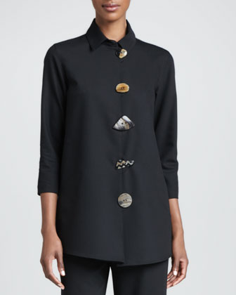 Stretch-Gabardine Travel Jacket, Petite