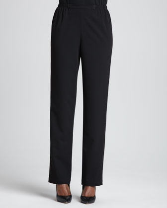 Stretch-Gabardine Travel Pants. Petite