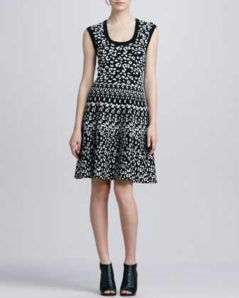 Leopard-Print Stretch Dress