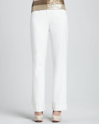 Ponte Boot-Cut Pants, Women's