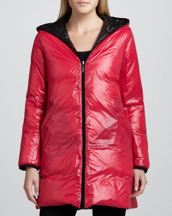 Reversible Hooded Puffer Coat