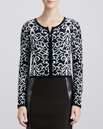 Ivory Tower Printed Cardigan