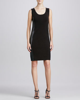 Side-Panel Combo Sheath Dress