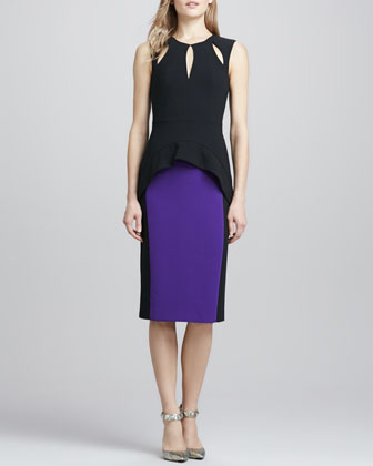 Milano Two-Tone Crepe Dress