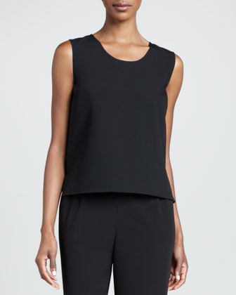 Basic Gabardine Travel Tank, Petite