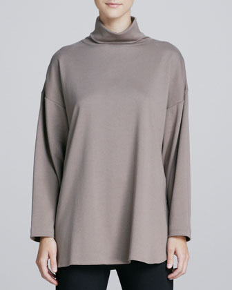 Oso Oversized Turtleneck Tunic, One Size
