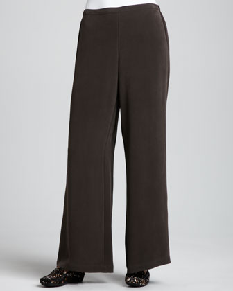 Full-Leg Silk Pants, Women's