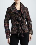 Ruffled Tweed Harmony Jacket