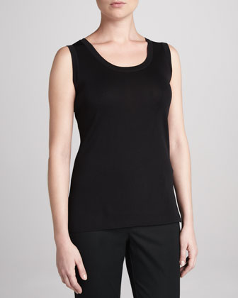 Solid Scoop-Neck Shell