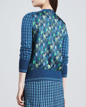 Walda Printed Scarab-Back Sweater