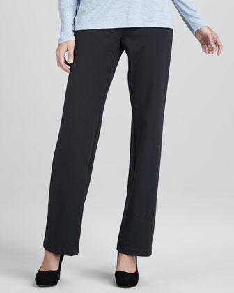 Straight-Leg Ponte Pants, Petite