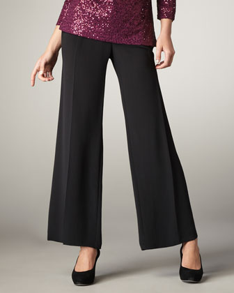 Silk Wide-Leg Pants, Women's