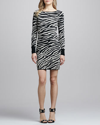 Evana Gold Animal-Print Dress