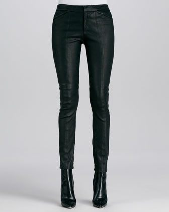 Misa Leather Skinny Pants