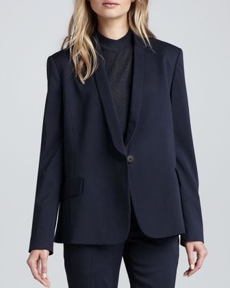 Janton Crepe Suit Jacket